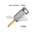 Screwdriver Hexagon 1.25mm, long 27mm