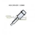 Torque Wrench Insert Hex 1.25mm - Short size